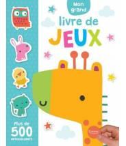 Mon grand livre de jeux + 500 autocollants  - CHARLY LANE - Editions Kimane