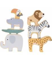 """Animaux en bois à empiler """"Safari"""""""