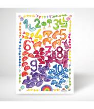 Affiche pays des nombres (collection de comptage) - Grimm's