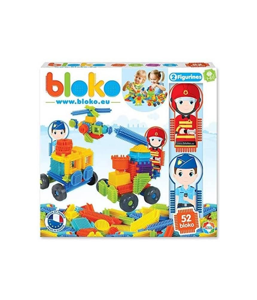 BLOKO –  50 pièces + 2 personnages de secours- construction 1er âge
