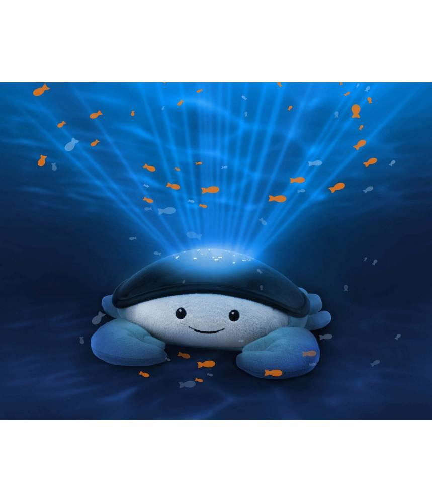 Crabe, peluche veilleuse musicale et projecteur océan pour bébé - ZAZU KIDS