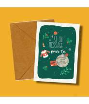 Bonnes fêtes de fin d'année, carte de voeux à gratter - Gratte-moi