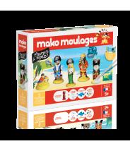 Pirates à bord Coffret 5 moules - Mako moulage