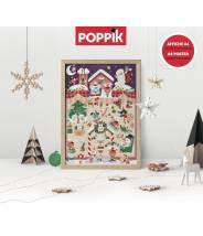 Un calendrier de l'Avent en stickers - Poppik