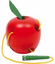 Jeu de lacets La petite pomme à enfiler