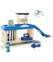 Poste de police et ses accessoires - compatible circuit de train