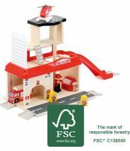 Caserne de pompiers et ses accessoires