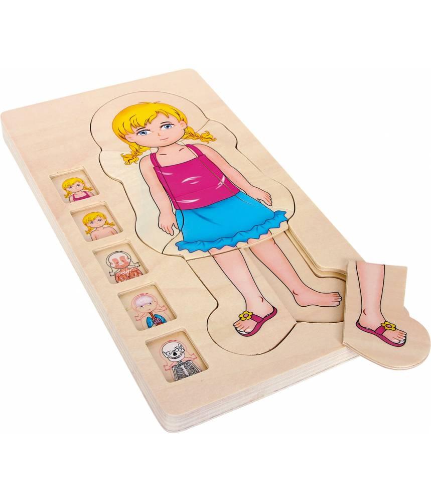 Puzzle en bois anatomie Fille