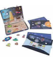 """Valise aimantée """"Espace Univers Lune"""""""