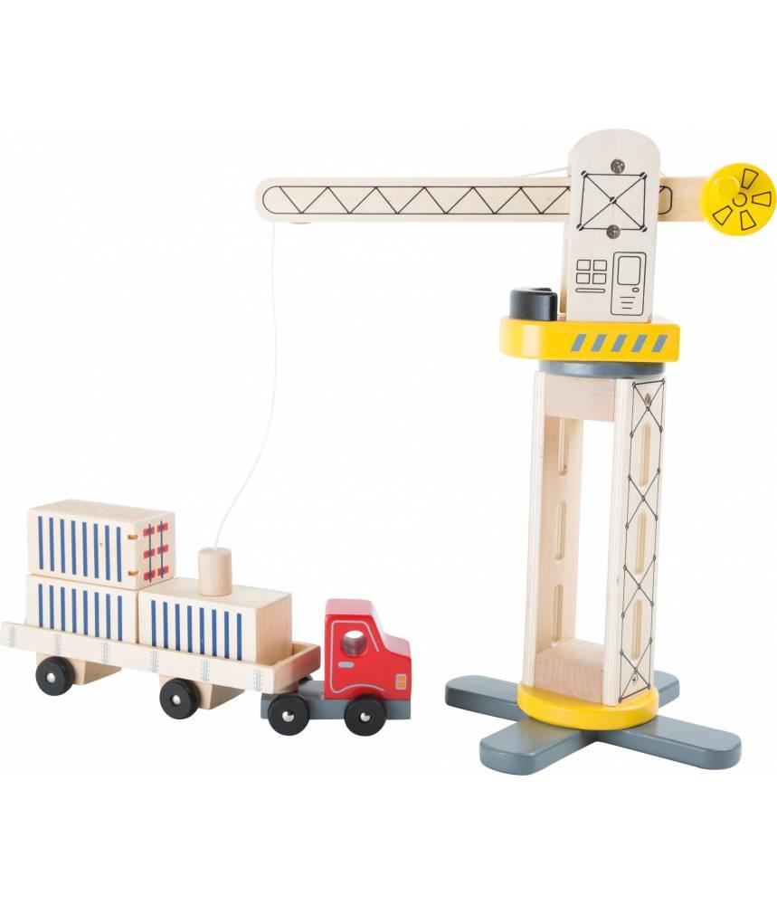 Grue et camion en bois