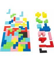 Tétris puzzle en bois