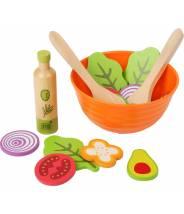 """Set de jeu """"Salade"""" en bois pour cuisine"""