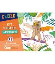 Kit Créatif Perroquet - CLOZE - JEU DE CONSTRUCTION EN BOIS