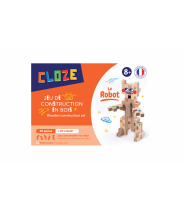 KIT CRÉATIF ROBOT - CLOZE - JEU DE CONSTRUCTION EN BOIS