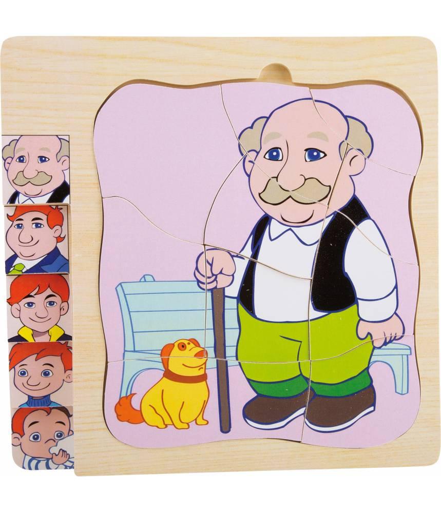 """Puzzle à étages """"La vie de Grand-Père"""""""