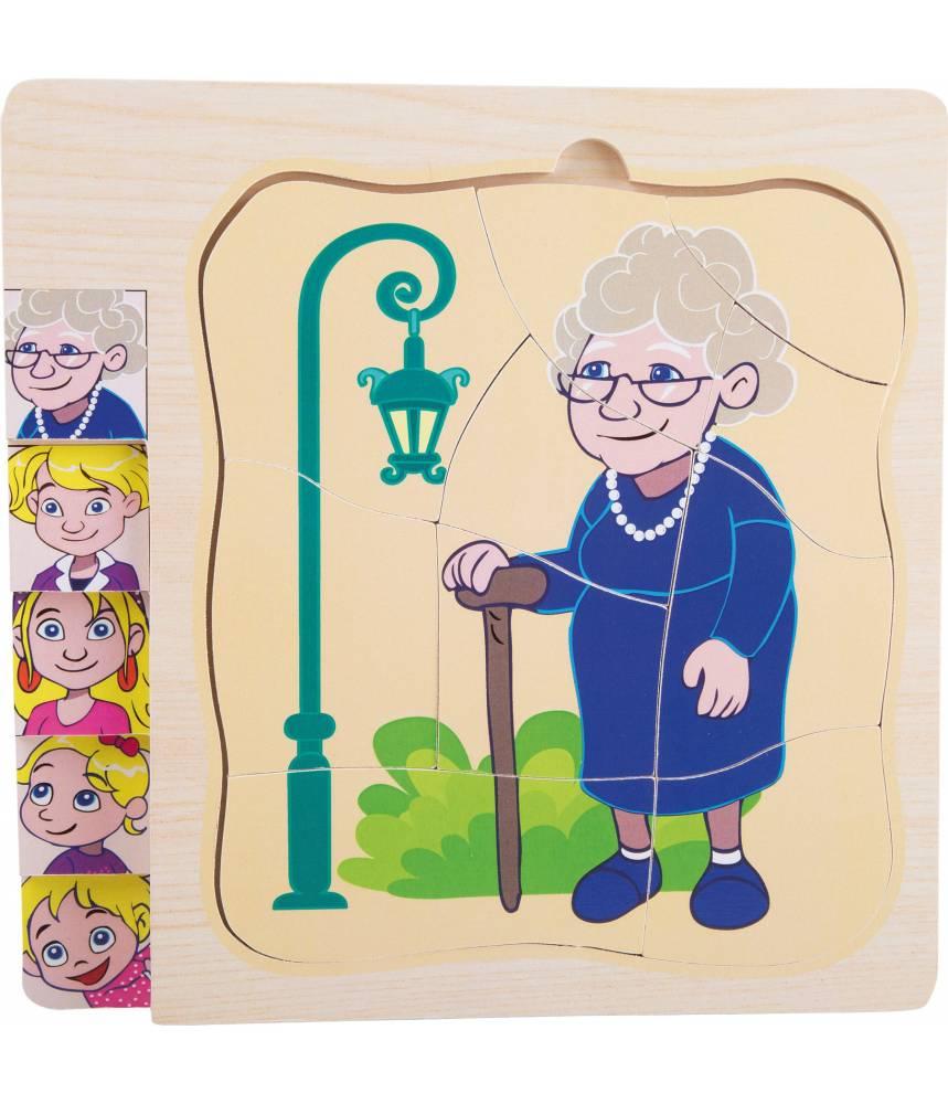 """Puzzle à étages """"La vie de Grand-Mère"""""""