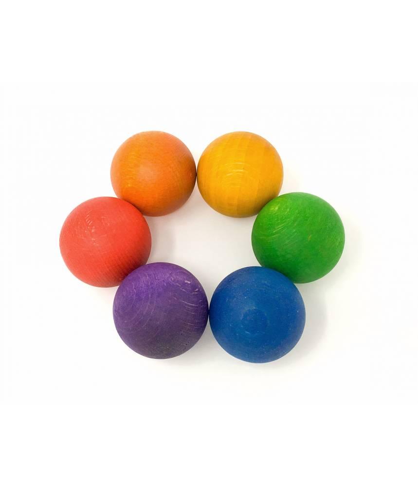 6 boules arc-en-ciel - Grapat