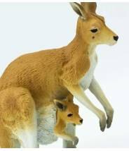 Kangourou avec marsupiaux   - Safari LTD figurine à l'unité