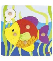 Puzzle à encastrement - poisson