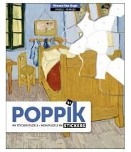 La chambre de Vincent Van Gogh - Poppik Sticker puzzle