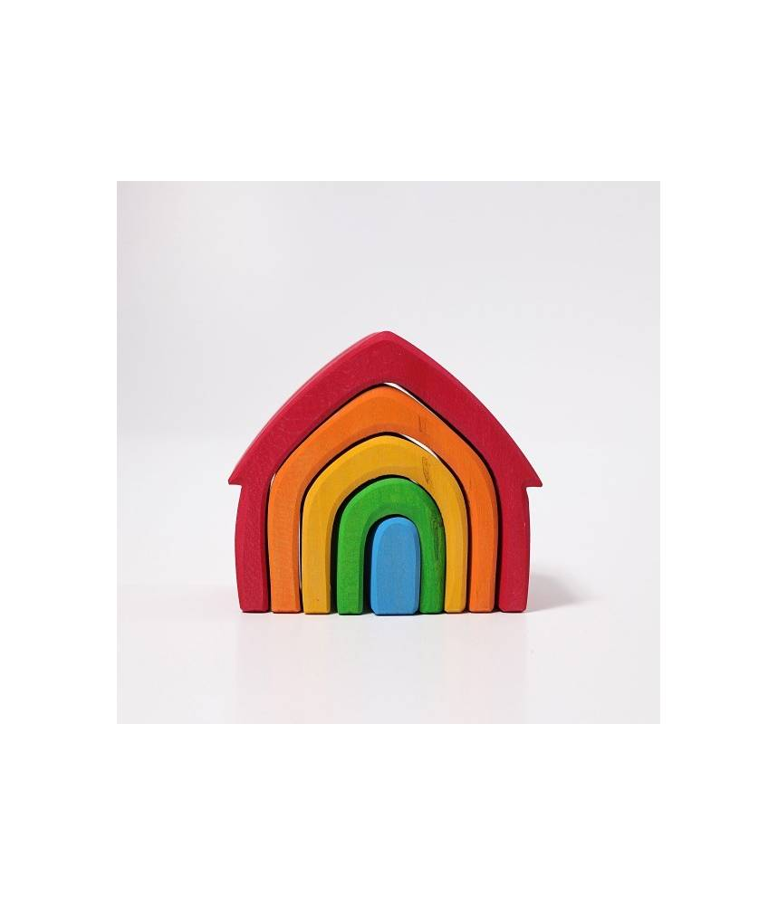 Maison colorée arc-en-ciel - Grimm's