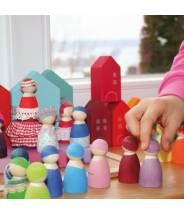 Maisons colorées village - Grimm's