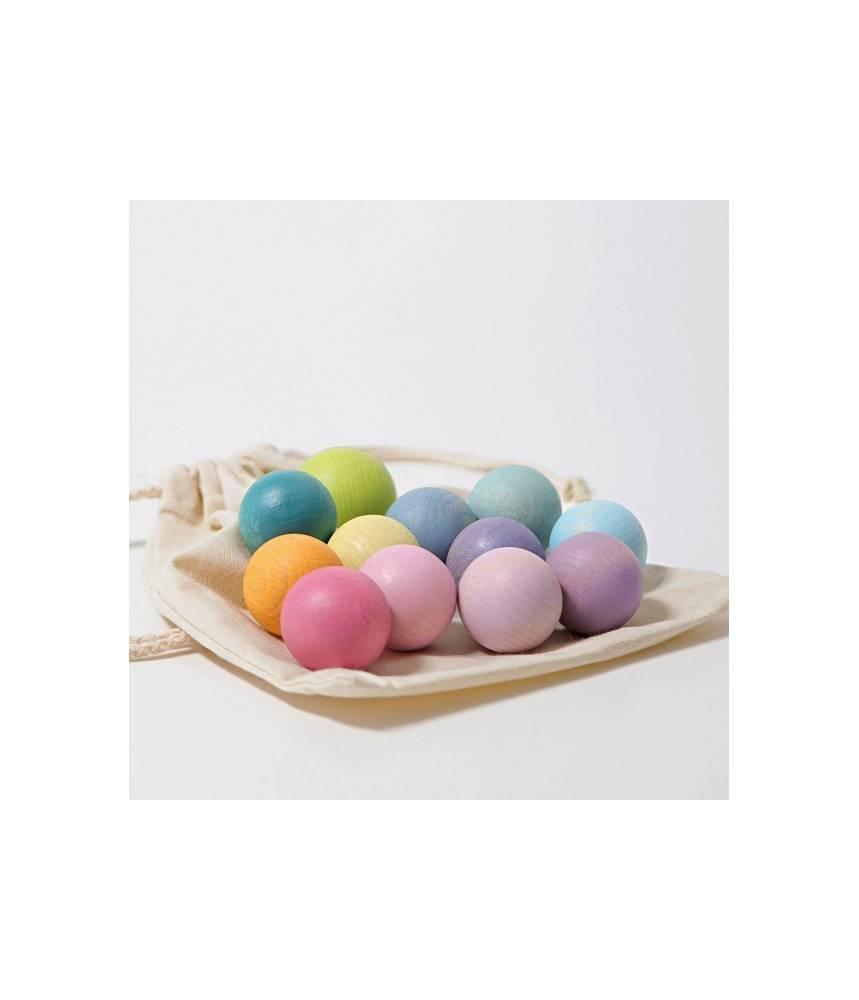 Petites boules arc-en-ciel Pastel - Grimm's
