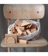 60 Géo-Blocs en bois naturel - Grimm's