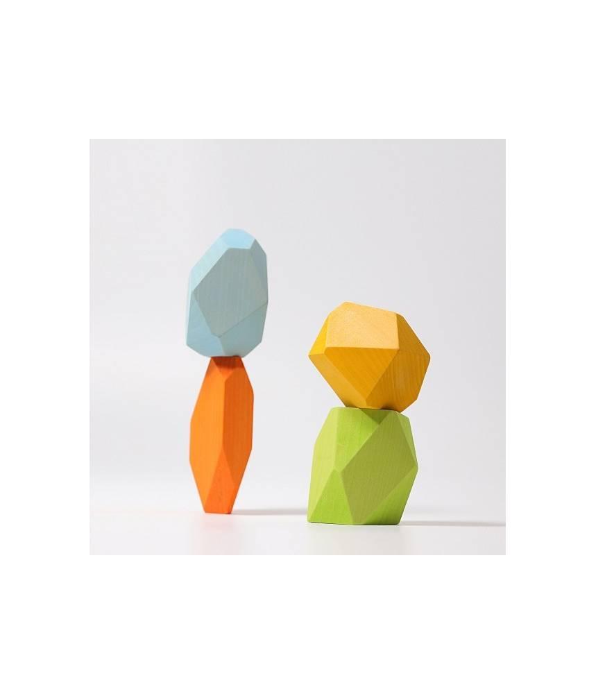 """Pierres précieuses en bois arc-en-ciel pastel """"Gems""""  - Grimm's"""