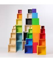 5 cubes en bois Naturel Moyen modèle - Grimm's