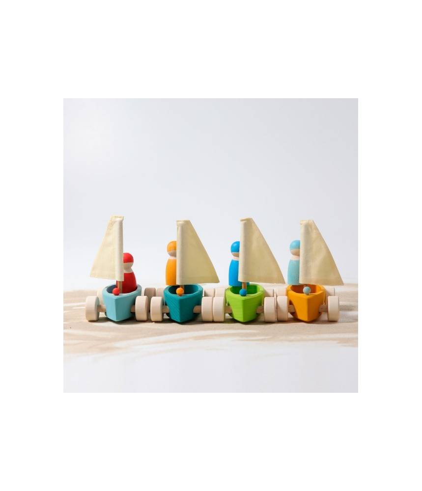 4 Bateaux à voile (4 voiliers et 4 amis) - Grimm's