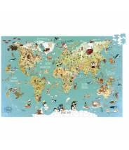Puzzle carte du monde Fantastique VILAC (500 pcs)