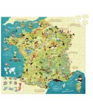 Puzzle carte des merveilles de France VILAC (300 pcs)
