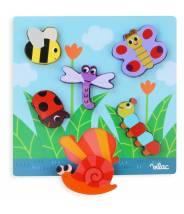 Puzzle encastrement Petites bêtes VILAC