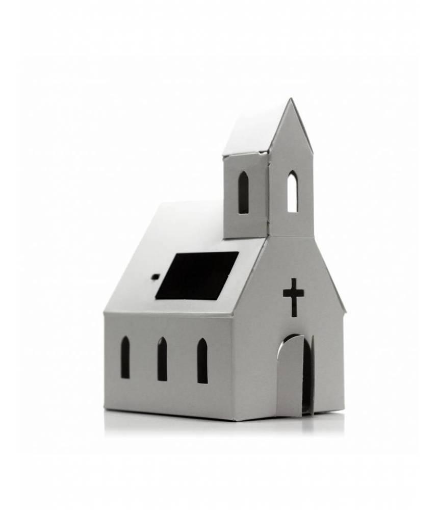 Petite Eglise solaire à décorer - Litogami -Casagami originale