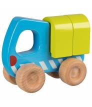Camion en bois bleu et vert...
