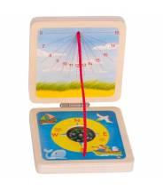 Cadran solaire de poche et boussole - Goki