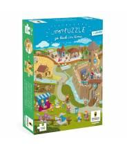 "Puzzle moyen âge, chateau fort ""go back in time"" - puzzle remonte le temps - Pirouette Cacahouète"