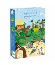 "Puzzle dinosaure - puzzle remonte le temps ""go back in time"" - Pirouette Cacahouète"