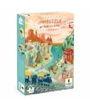 """Puzzle far west - puzzle remonte le temps """"go back in time"""" - Pirouette Cacahouète"""
