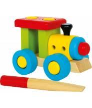 Locomotive à construire en bois